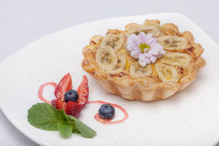 Tartlet on the plate Royalty Free Stock Images