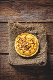 Tartlet with pumpkin cream for Halloween for kids Stock Photos