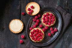 Tartlet with raspberries Stock Photography