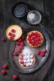 Tartlet with raspberries Stock Images