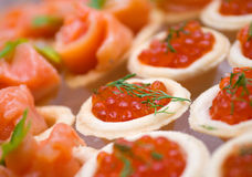 Tartlet with red caviar Royalty Free Stock Image