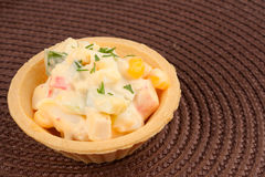 Tartlet with salad Royalty Free Stock Images