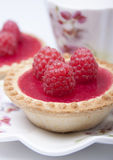 Tartlet of shortcrust pastry    with raspberry jelly Royalty Free Stock Image