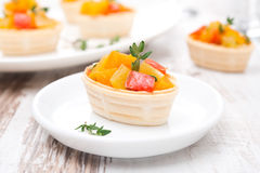 Tartlet With Roasted Vegetables On A Plate Royalty Free Stock Photo