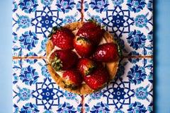Tartletkuchen oder Korbkuchenkeks stockfoto