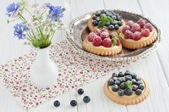 Tartlets βακκινίων και σμέουρων Στοκ φωτογραφία με δικαίωμα ελεύθερης χρήσης