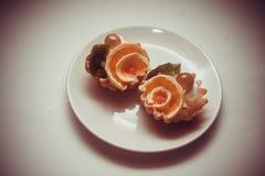 Tartlets на белизне Стоковое Фото
