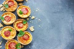 Tartlets сыра и томата Стоковая Фотография