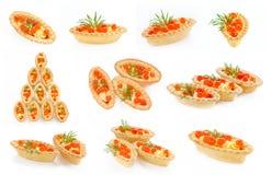 Tartlets с красной икрой Стоковые Изображения RF