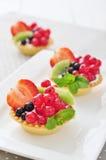 Tartlets с свежими ягодами Стоковая Фотография RF