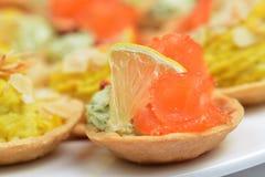 Tartlets с семгами Стоковая Фотография RF