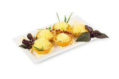 Tartlets с сыром Стоковая Фотография RF