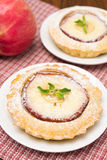 Tartlets with apple and powdered sugar Royalty Free Stock Photo
