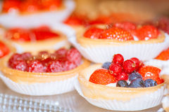 Tartlets with berries Royalty Free Stock Images