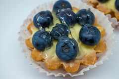 Tart with blueberries stock image