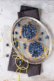 Tartlets with blueberries Royalty Free Stock Photography