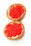 Tartlets with caviar Stock Photography
