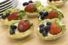 Tartlets da fruta Fotografia de Stock