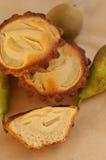 Tartlets de la pera y del frangipani Imagen de archivo