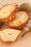 Tartlets de la pera y del frangipani Foto de archivo libre de regalías