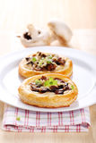 Tartlets do cogumelo Imagem de Stock Royalty Free