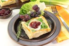 Tartlets do queijo de cabra Fotos de Stock