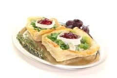 Tartlets do queijo de cabra Imagem de Stock Royalty Free