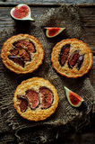 Tartlets with Fig and almond cream (Frangipane) Royalty Free Stock Photo