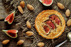 Tartlets with Fig and almond cream (Frangipane) Royalty Free Stock Image
