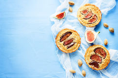 Tartlets with Fig and almond cream (Frangipane) Royalty Free Stock Images