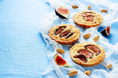 Tartlets with Fig and almond cream (Frangipane) Stock Photography
