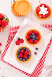 Tartlets with forest fruits. Stock Photography