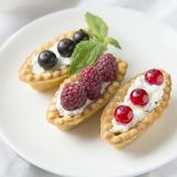 Tartlets with fresh berries Stock Image