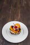 Tartlets with fruits Stock Photography
