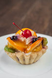 Tartlets with fruits Stock Photo