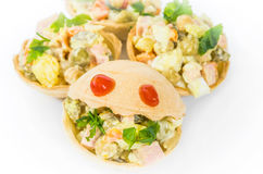 Tartlets, jedzenie, przekąska, smakosz, śniadanie, jarosz, zdrowy, gość restauracji Fotografia Stock