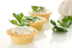 Tartlets with lard Royalty Free Stock Photos