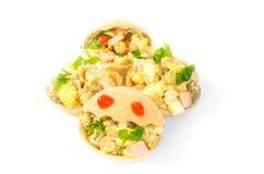 Tartlets, Lebensmittel, Snack, Feinschmecker, Frühstück, Vegetarier, gesund, Abendessen Stockfotografie