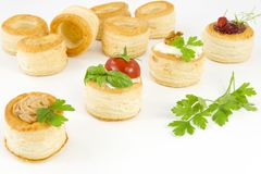 Tartlets llenados Foto de archivo
