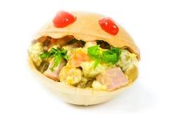 Tartlets mat, mellanmål, gourmet, frukost, vegetarian som är sund, matställe Arkivbilder