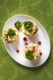 Tartlets mit Avocado Lizenzfreie Stockbilder