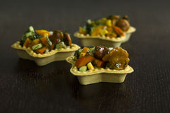 Tartlets mit Pfifferlingen Stockbilder