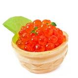 Tartlets mit rotem Kaviar Lizenzfreie Stockfotos
