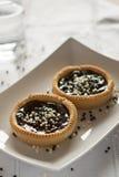 Tartlets oscuros del chocolate Imagen de archivo