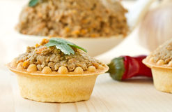 Tartlets with paste Stock Image