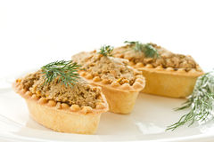 Tartlets with paste Stock Photography