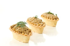 Tartlets with paste Royalty Free Stock Photography