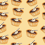 Tartlets pattern Stock Photography