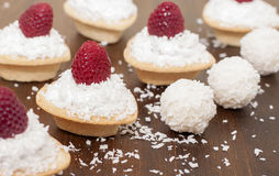 Tartlets with protein cream Royalty Free Stock Photo