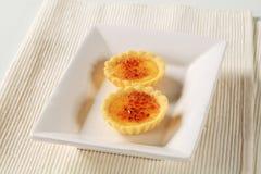 Tartlets queimados da nata Fotos de Stock Royalty Free